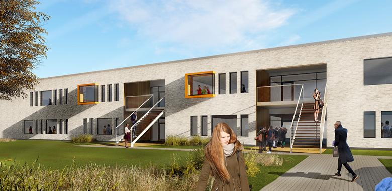Vinder udpeget til byggeri af Hærvejsskolen og Børnehuset Fladhøj - Aabenraa Kommune